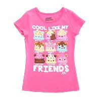 Girls (4-6x) Short Sleeve Cool Nom Nom Tee 4, Lollipop