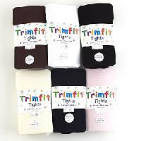 Girls (4-14) Trimfit Comfort Toe Cotton Tights 4/6, Black