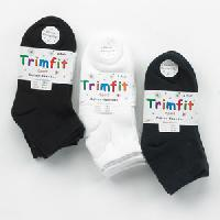 Girls (4-14) Trimfit 3 Pack Low Cut Sport Socks L, Black
