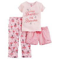 Girls  Carter's(R) 3pc. Ballerina Pajama Set 4, Pink