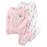 Girls Carter's(R) 4pc. Ballerina Pajama Set 4, Pink