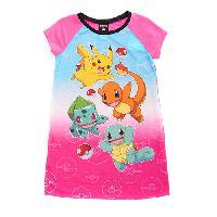 Girls Ready For Battle Pokemon(tm) Nightgown 10, Pink Multi
