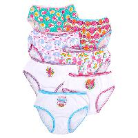 Girls Trolls 7 Pack of Panties 4, White