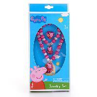Peppa Pig Jewelry Box Set , Pink/White