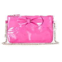 Girls Capelli Bow Purse with Chain Strap , Pink