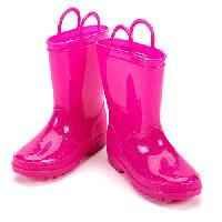 Girls Capelli Solid Rain Boots 1/2, Pink