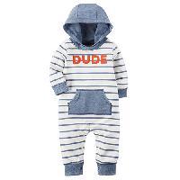 Baby Boy (3-24M) Carter's Dude Hooded Jumpsuit 12 Months, Blue