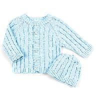 Baby Boy Sweater And Hat Newborn, Blue