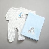 Baby Boy (NB-9M) Baby Gear Safari Sleeper Set 0-3 Months, Blue