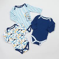 Baby Boys (NB-9M) Baby Gear 3pc. Dino Bodysuits 0-3 Months, Blue