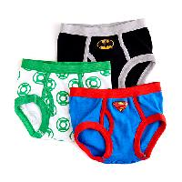 Toddler Boy Justice League 3pc. Underwear 2T-3T, White/Black/Blue