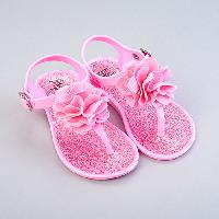 Baby Girl (7-20M) Stepping Stones Flower Sandals 7, Pink