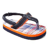Baby Boy Stepping Stones Plaid Thong Sandals 2, Navy