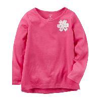 Girls (4-6x) Carter's(R) Side Rosette Jersey Top 4, Pink