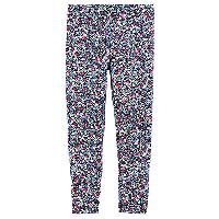 Girls (4-6x) Carter's(R) Ditsy Floral Print Leggings 4, Navy