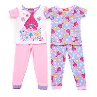 Toddler Girl Trolls Cupcakes & Rainbows Sleep Set 2T, Pink