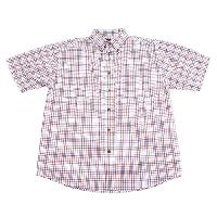 Architect Short Sleeve Plaid Button Down Shirt XXL, White/Sapphire