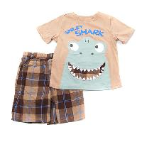 Toddler Boy Buster Brown Smiley Shark Set 2T, Lime Punch