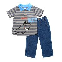 Toddler Boy Weeplay Ahoy Polo Set 2T, Castlerock