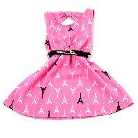 Toddler Girl Kidz Concepts Belted Print Dress 2T, Pink Powder
