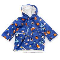 Baby Boy Little Beginnings Sports Bath Robe Newborn, Blue