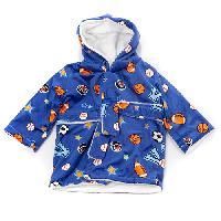 Baby Boy Little Beginnings Sports Bath Robe Newborn, Blue