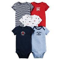 Baby Boy (NB-18M) Carter's(R) Little Dude Bodysuits Newborn, Navy