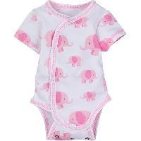 Baby Girl (NB) MiracleWear Pink Elephant Bodysuit Newborn, Pink