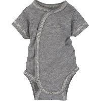 Baby Unisex (NB) MiracleWear Grey Bodysuit Newborn, Grey