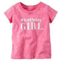 Baby Girl (9-24M) Carter's Birthday Girl Tee 9 Months, Pink