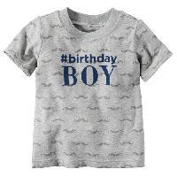 Baby Boy (9-24M) Carter's Birthday Boy Tee 9 Months, Heather Grey