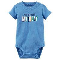 Baby Boy (9-18M) Carter's Boy Birthday Bodysuit 12 Months, Blue