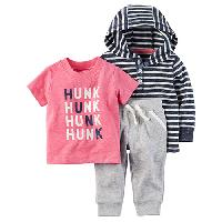 Baby Boy (3-24M) Carter's Hunk Hoodie & Pants Set 12 Months, Navy