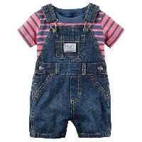 Baby Boy(3-24M) Carter's Denim Shortalls Set 12 Months, Denim