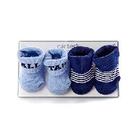 Baby Boy Newborn Allstar 2 Pack of Booties Newborn, Blue