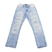 Young Mens SOUTHPOLE Washed Distressed Jeans 32x30, Dark Sand