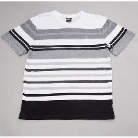 Young Mens SOUTHPOLE Engineered Stripe V-Neck Tee L, Black
