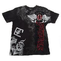 Young Mens SOUTHPOLE Screen Print Tee L, Black