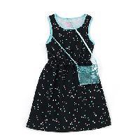 Girls (7-16) Colette Lily Star Print Dress & Purse L, Black Multi