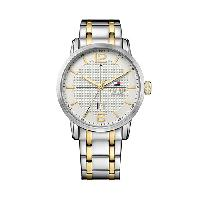 Mens Tommy Hilfiger 3-Hand Watch - 1791214 , Silver/Gold