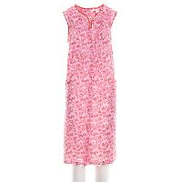 Jasmine Rose Sleeveless Butterfly Snap Duster L, Pink Sand
