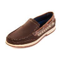 Mountain Ridge(R) Gianni Slip On Boat Shoes 9.5 D, Brown
