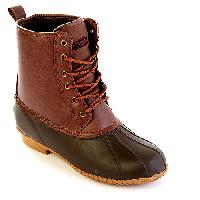 London Fog Sutton Weather Boots 7 M, Dark Brown