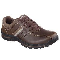 Mens Skechers Braver-Alfano Sport Casuals 10 M, Dark Brown