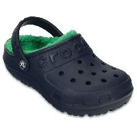 Big Kids Crocs(tm) Hilo Lined Clogs 1, Black/Black