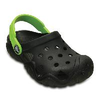 Kids Crocs(tm) Swiftwater Clogs 10 M, Black/Volt Green