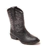Boys Deer Stags Ranch Cowboy Boots - Black 11 M, Black