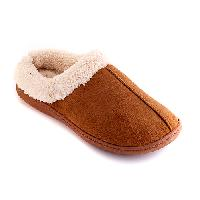Sporto Micro Suede Slippers L, Chestnut