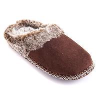 Sporto Faux Fur Clog Slippers L, Black
