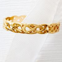 Yellow 10kt. Gold Polished Celtic Knot Band 7, Gold